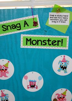 Snag a monster game. Love this idea...simple but fun