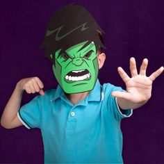 Hulk Mask and other super hero Printables | Spoonful