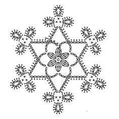 Snowflake crochet motif nr 4 pattern by Anabelia Craft Design - Salvabrani Appliques Au Crochet, Crochet Motifs, Crochet Diagram, Thread Crochet, Crochet Doilies, Crochet Flowers, Crochet Lace, Crochet Stitches, Crochet Patterns