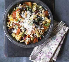 Sicilians love aubergines cooked every which way. Try them in this summery pasta dish