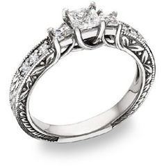 Perfect Diamond Ring. I would be so happy with this!