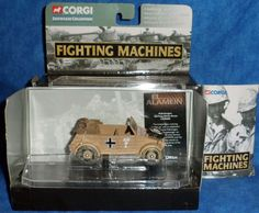 Corgi Military Fighting Machines Kubelwagen Gweman Afrika Korps 2002  Tank  D8 #Corgi