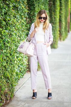 Late Afternoon, lavender spring suiting