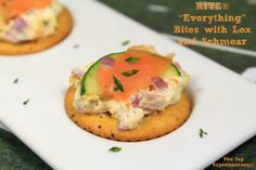 "RITZ ""Everything"" Bites with Lox and Schmear @ Country Girl Gourmet http://countrygirlgourmet.com/2014/01/09/new-york-city-lox-and-schmear-bagel-in-a-bite/  #RITZNYBLITZ #AllstarRitz"