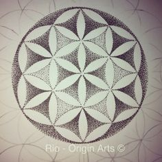 Flower of life smaller than usual love these patterns again all dotwork