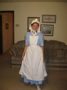 1840 Pioneer Clothing | Oh, I did make aprons for them too. I used Butterick 5509. They were ...