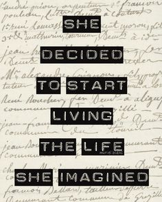 life she imagined