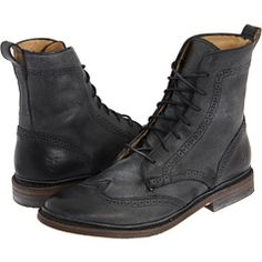 frye wingtip lace up boots