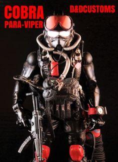 "COBRA PARA-VIPER 6"" 1:12th Scale (G.I. Joe) Custom Action Figure [CUSTOM GI JOE MARVEL LEGENDS BLACK SERIES STYLE 6"" INCH COBRA PARA-VIPER 1:12th SCALE]"