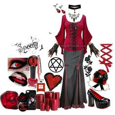"""My heart reeled with grave poetry..."" by octoburfrost on Polyvore #goth #gothic…"