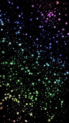 Rainbow colored stars sparkle