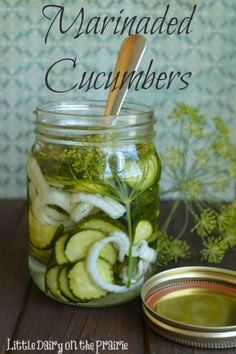 Marinaded Cucumbers.  Great way to use fresh cucumbers from the garden!!