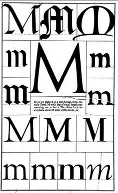 1942 Print Letter M Font Graphic Design Alphabet Typeface Frederic Goudy Vintage Typography, Typography Fonts, Lettering Design, Lettering Styles, Font Styles, Brush Lettering, Calligraphy Letters, Illuminated Letters, Typography Inspiration
