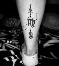 Virgo tattoo by Claudia Sufaru