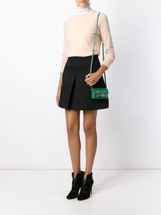 1343d4554a0b Fendi Baguette Micro Cross-Body Bag in Green