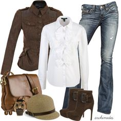 """""""Herringbone"""" by archimedes16 on Polyvore...maybe not the jacket but I love the boots"""