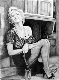 Marilyn Monroe [pencil drawing] by ~analuinog on deviantART || This image first pinned to Marilyn Monroe Art board, here: http://pinterest.com/fairbanksgrafix/marilyn-monroe-art/ || #Art #MarilynMonroe