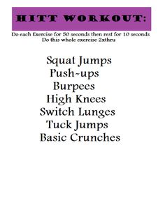 HITT Workout for Workout Wednesday  -candycoatedprada