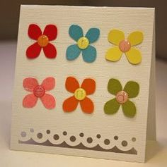 Kendall this is simple but way cute huh??  simple card making ideas - Google Search
