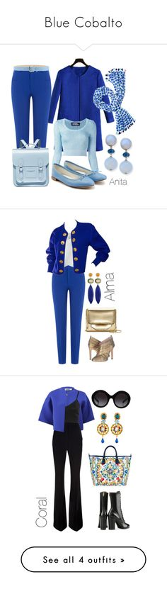 """""""Blue Cobalto"""" by begopuig ❤ liked on Polyvore featuring Jeremy Scott, Repetto, Roland Mouret, The Cambridge Satchel Company, Stefanel, Kate Spade, Stephen Dweck, Louise et Cie, Chicwish and Yves Saint Laurent"""