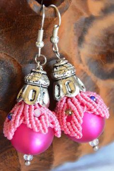 La Cesta dei lavori di Loredana - Orecchini a bocciolo - Rosebud earrings -