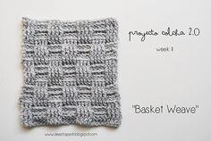 """Ravelry: """"Basket Wave"""" Square pattern by De Estraperlo. Crochet. Patrón en español."""