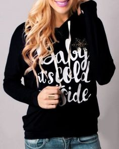 Cozy Baby It's Cold Outside !! I got find me a shirt like this. So cute. And my favorite Christmas song.  ❄
