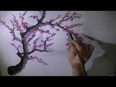 Chinese plum blossom brush painting - YouTube