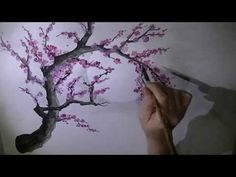 Chinese plum blossom brush painting - YouTube