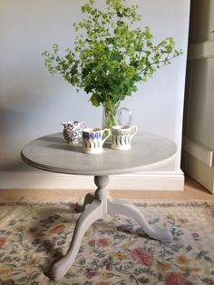 Sold - Vintage Painted Occasional Side Table. www.sallywhitedesigns.com