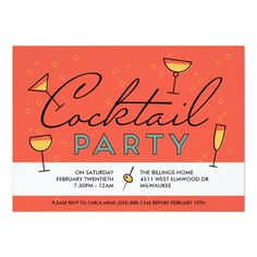 Shop Retro Vintage Cocktail Party Invitation created by Personalize it with photos & text or purchase as is! Alternative Wedding Stationery, Custom Invitations, Party Invitations, Cocktail Party Invitation, Colored Envelopes, Envelope Liners, Retro Vintage, Cocktails, Writing