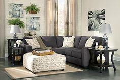 Shop for the Vendor 3 Alenya - Charcoal Sectional with Left Loveseat at Becker Furniture World - Your Twin Cities, Minneapolis, St. Charcoal Sectional, Living Room Sectional, Living Room Furniture, Home Furniture, Living Room Decor, Gray Sectional, Fabric Sectional, Gray Sofa, Arquitetura