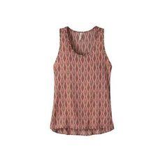 Women's Mountain Khakis Emma Tank ($50) ❤ liked on Polyvore featuring tops, sleeveless tops, sleeveless tank, scoop neck shirt, no sleeve shirt, brown tank and print tank