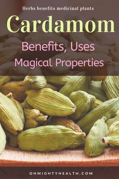 A simple but very helpful entry on cardamom benefits, uses and magical properties. Everything in bulleted points so it is easy to read. Great for bookmarking. Ayurvedic Healing, Ayurvedic Herbs, Healing Herbs, Medicinal Herbs, Cardamom Benefits, Tea Benefits, Magic Herbs, Herbal Magic, Cardamom Tea Recipe