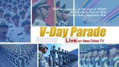 New China TV will offer live coverage of China's V-Day military parade at 10 am Thursday from Beijing. Stay tuned!