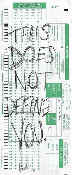 You are not defined by your test scores.