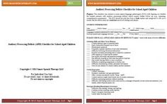 Free for a limited time: Auditory Processing Deficits (APD) Checklist for School Aged Children from Smart Speech Therapy LLC Speech Language Therapy, Speech Pathology, Speech And Language, Speech Therapy, Listening Activities, Active Listening, Speech Activities, Auditory Processing Disorder, Receptive Language