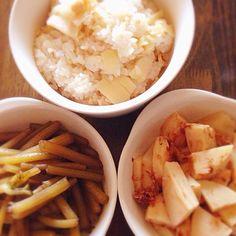 春ですね〜 - 5件のもぐもぐ - タケノコとフキの煮もの&タケノコご飯 by nmutsumi