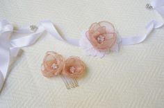 Flower girl accessories Bridesmaids accessories por GingiBeads