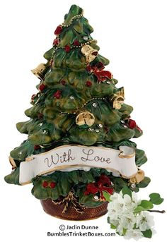 Christmas With LoveTree Limoges Trinket Box