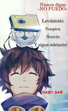 Daiki San Frases Anime Nunca digas NO PUEDO