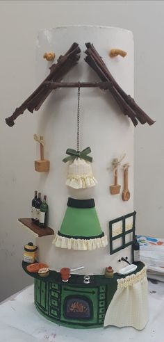 Fairy Houses, Biscuit, Diy And Crafts, Polymer Clay, Clock, Ceramics, Creative, Fun, Handmade