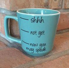 Coffee Cup Coffee Mug Light Blue Coffee Cup by SaidInStoneOnline
