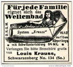 Original-Werbung/ Anzeige 1905 - WELLENBAD / LOUIS KRAUSS SCHWARZENBERG - ca. 45 x 40 mm