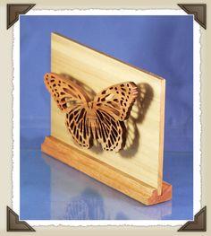 Scrollsaw Workshop: Butterfly Shadow Scroll Saw Pattern.