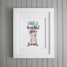 "Dobby Quote Watercolor ""What a beautiful place to be with friends"" by TheRootedPair"