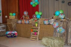 Rustic stage decor