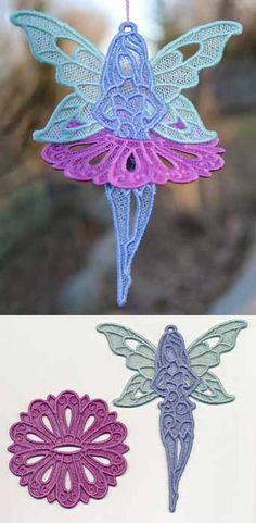 Fairy Flight in 3D (Lace) design (X12473) from www.Emblibrary.com