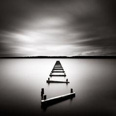 Xavier Rey Photographies - Le temps d'une pose | L'echelle - Lac de Sanguinet, France 2009