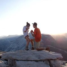 This mountain top proposal is absolute perfection